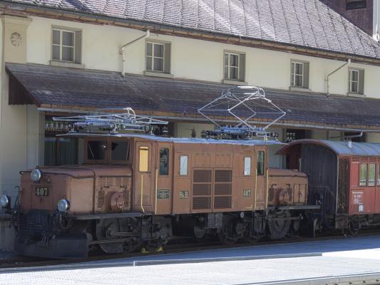 Bergün, Eisenbahn, Graubünden, Rhätische Bahn, Schweiz