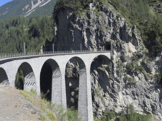Eisenbahn, Graubünden, Rhätische Bahn, Schweiz