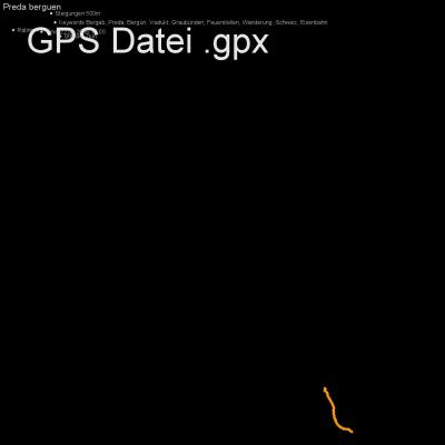 Bergab, Preda, Bergün, Viadukt, Graubünden, Feuerstellen, Wanderung, Schweiz, Eisenbahn, Höhenmeter 500m, Länge 7km, GPX Route, GPS Daten