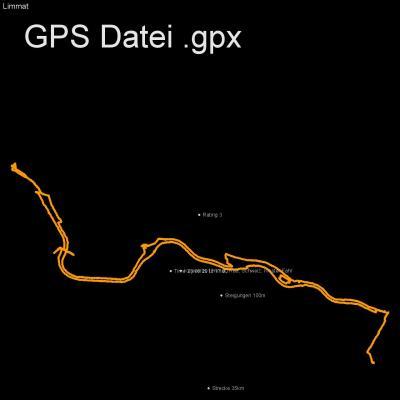 Limmat, Rad, Schweiz, Kloster Fahr, Höhenmeter 100m, Länge 35km, GPX Route, GPS Daten