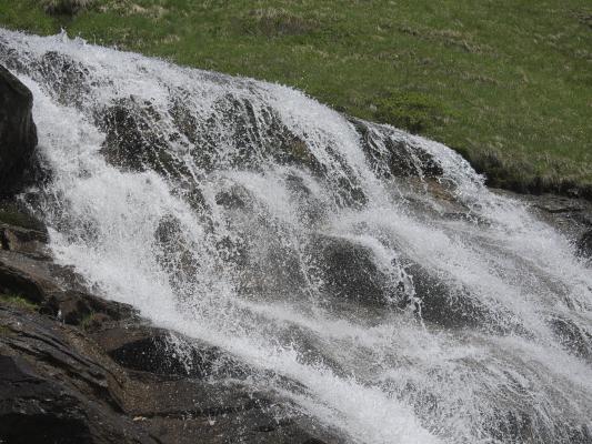 Alpen, Goldberggruppe, Stellkopf, Wasserfall