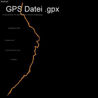 Mitten, Alm, Alpen, Oesterreich, Stellkopf, Goldberggruppe, Höhenmeter 1000m, Länge 10km, GPX Route, GPS Daten