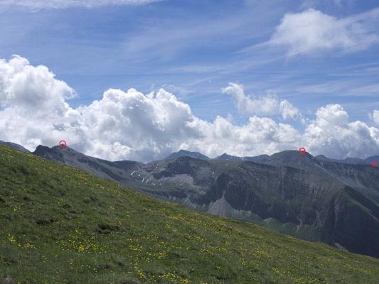 Alpen, Mitten und Umgebung, Mohar, Moharkreuz, Stanziwurten, Stellkopf