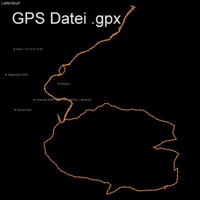 Mitten, Marterle, Ebeneck, Laitenkopf, Höhenmeter 660m, Länge 6km, GPX Route, GPS Daten