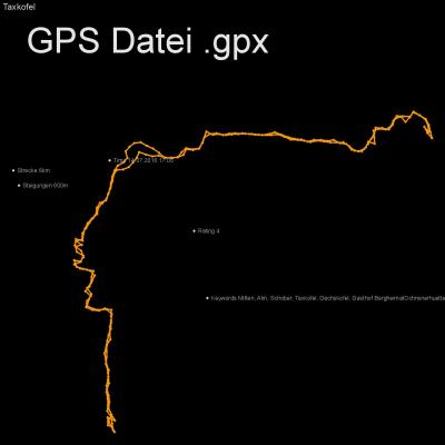 Mitten, Alm, Schober, Taxkofel, Dachskofel, Gasthof BergheimatOchnsnerhuette, Höhenmeter 600m, Länge 6km, GPX Route, GPS Daten