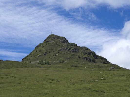 Alpen, Gipfel, Gipfelkreuz, Hochtristenhaus, Knoten, Mitten und Umgebung, Österreich