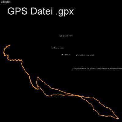 Mitten, Alm, Schober, Anna Schutzhaus, Ederplan, Loneskopf, Zwischenberger Sattel, Höhenmeter 900m, Länge 10km, GPX Route, GPS Daten