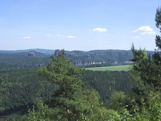 Falkenstein, Kohlbornstein, Schrammsteine, Sächsische Schweiz