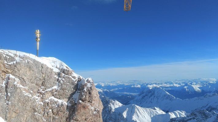 Alpen, Garmisch Patenkirchen, Gipfel, Gipfelkreuz