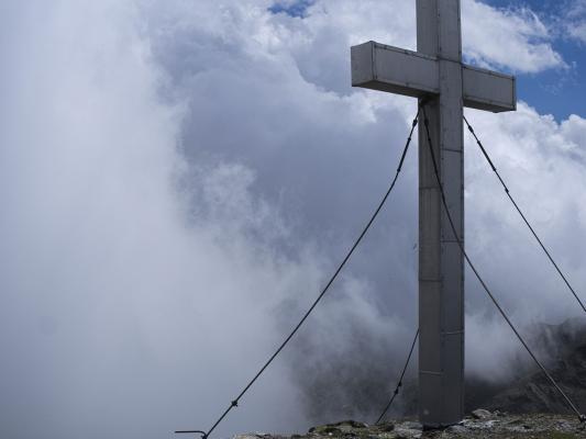 Alpen, Gipfel, Gipfelkreuz, Kreuzeck, Kreuzeckgruppe, Mitten und Umgebung, Österreich