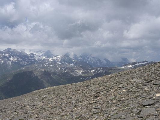 Alpen, Goldberggruppe, Mitten und Umgebung, Sandkopf, Wolken, Österreich