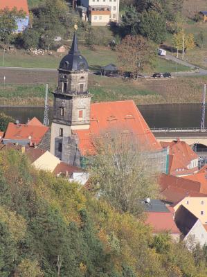 Dach, Kirche, Königstein, Sächsische Schweiz