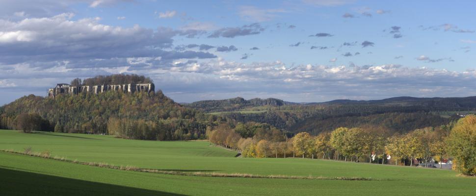 Königstein, Pfaffenstein, Sächsische Schweiz, Wolken