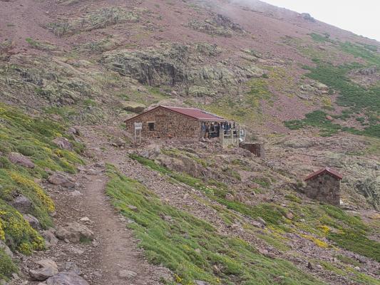 Berghütte, Frankreich, Gebirgsbach, Golo-Tal, Korsika, Wasser