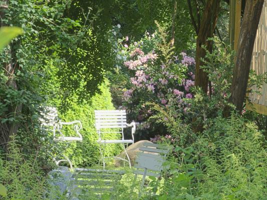 Dahme, Garten, Gartenmöbel, Saxdorf Pfarrgarten