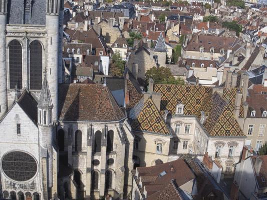 Burgund, Dachlandschaft, Dijon, Frankreich, Tour Philippe-le-Bon