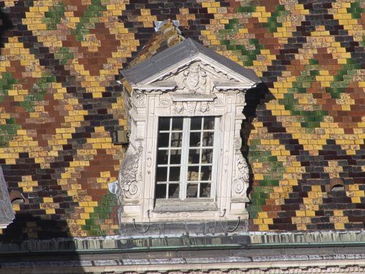 bunt, Burgund, Dach, Dijon, Frankreich, Tour Philippe-le-Bon