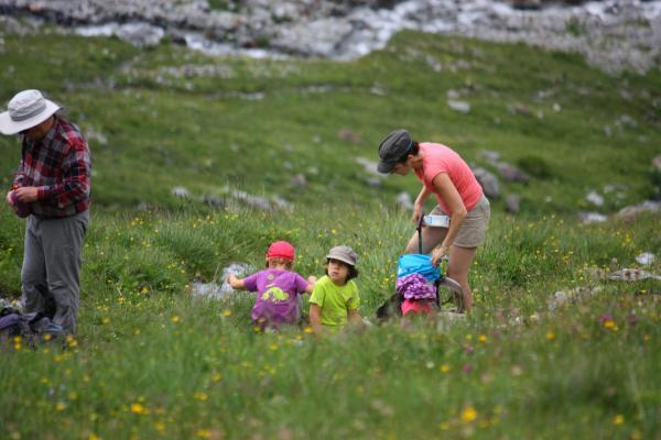 Frankreich, Haute-Savoie, Menschen, Paragon, Refuge valoette, Vanoise